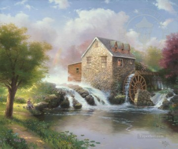 Thomas Kinkade Painting - The Blessings Of Summer Thomas Kinkade