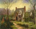 The Cottage Robert Girrard Thomas Kinkade