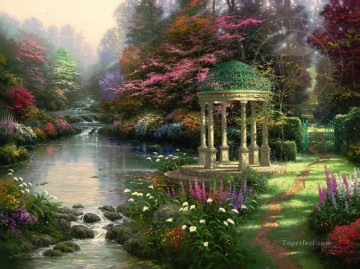Thomas Kinkade Painting - The Garden Of Prayer Thomas Kinkade