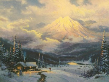 The Warmth Of Home Thomas Kinkade Oil Paintings