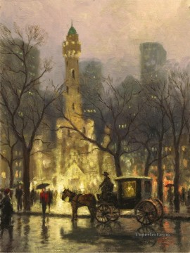 The Water Tower Chicago Thomas Kinkade Oil Paintings