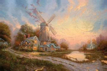 Thomas Kinkade Painting - The Wind Of The Spirit Thomas Kinkade