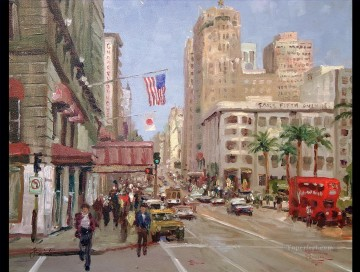 Union Square San Francisco Thomas Kinkade Oil Paintings