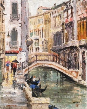 Venice Canal Thomas Kinkade Oil Paintings