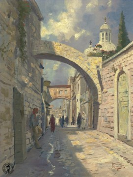 Via Dolorosa Thomas Kinkade Oil Paintings