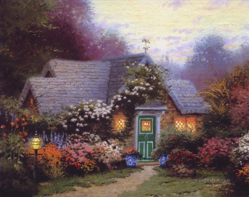 Thomas Kinkade Painting - Weathervane Hutch Thomas Kinkade