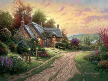 A Peaceful Time Thomas Kinkade Oil Paintings