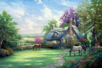 Thomas Kinkade Painting - A Perfect Summer Day Thomas Kinkade