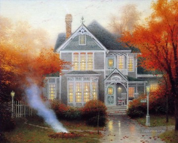 Amber Afternoon Thomas Kinkade Oil Paintings
