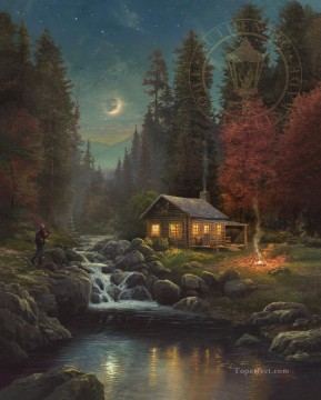 Away From It All Thomas Kinkade Oil Paintings