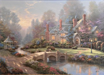 Thomas Kinkade Painting - Beyond Spring Gate Thomas Kinkade