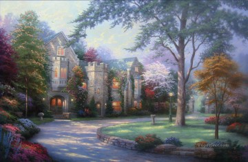 Beyond Summer Gate Thomas Kinkade Oil Paintings