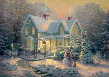 baptism of christ Painting - Blessings of Christmas Thomas Kinkade