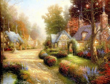 Cobblestone Lane I Thomas Kinkade Oil Paintings