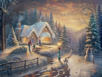 Thomas Kinkade Painting - Country Christmas Homecoming Thomas Kinkade