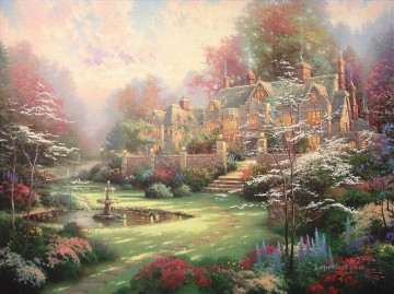 Gardens Beyond Spring Gate Thomas Kinkade Oil Paintings