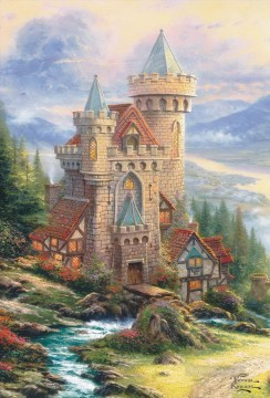 Guardian Castle Thomas Kinkade Oil Paintings