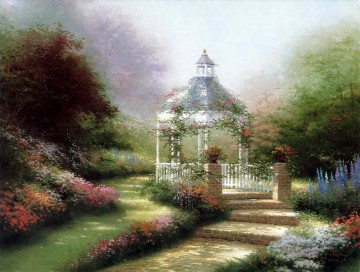 Hidden Gazebo Thomas Kinkade Oil Paintings