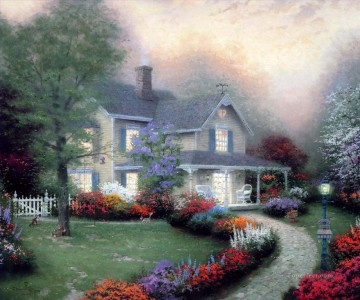 Thomas Kinkade Painting - Home Is Where The Heart Is Thomas Kinkade