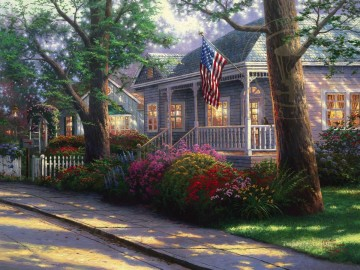 Hometown Pride Thomas Kinkade Oil Paintings