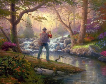 Kinkade Canvas - It Doesn t Get Much Better Thomas Kinkade