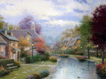 Thomas Kinkade Painting - Lamplight Brooke Thomas Kinkade
