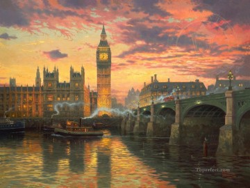 Kinkade Canvas - London Thomas Kinkade
