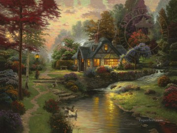 Thomas Kinkade Painting - Stillwater Cottage Thomas Kinkade