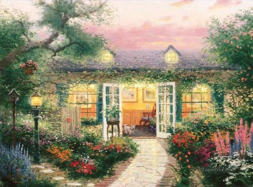 Studio In The Garden Thomas Kinkade Oil Paintings