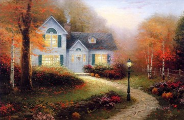 The Blessings Of Autumn Thomas Kinkade Oil Paintings