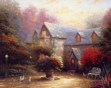 Thomas Kinkade Painting - The Blessings Of Spring Thomas Kinkade