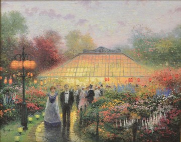 Thomas Kinkade Painting - The Garden Party Thomas Kinkade