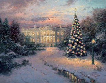 thomas kinkade Painting - The Lights of Liberty Thomas Kinkade
