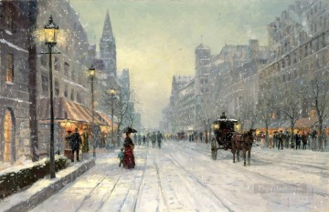 Thomas Kinkade Painting - Winter Dusk Thomas Kinkade