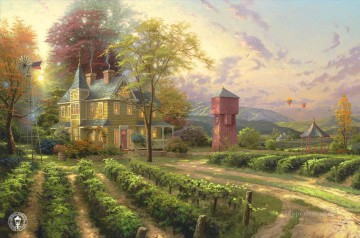 Abundant Harvest Thomas Kinkade Oil Paintings
