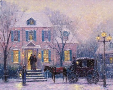 Thomas Kinkade Painting - An Evening Out Robert Girrard Thomas Kinkade