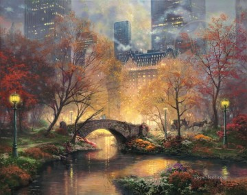 Central Park in the Fall Thomas Kinkade Oil Paintings