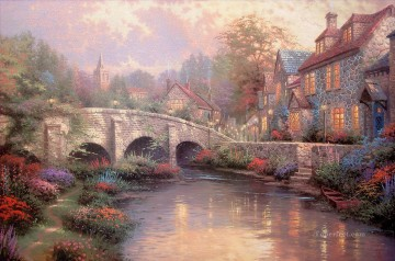 Cobblestone Brooke Thomas Kinkade Oil Paintings