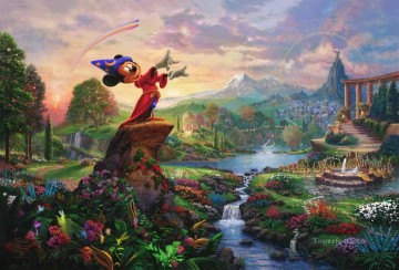 Thomas Kinkade Painting - Fantasia Thomas Kinkade