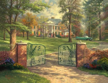 Thomas Kinkade Painting - Graceland 50th Anniversary Thomas Kinkade