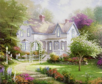Heart Painting - Home Is Where The Heart Is Thomas Kinkade