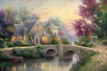 Lamplight Manor Thomas Kinkade Oil Paintings