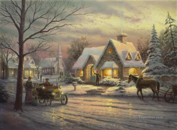Memories of Christmas Thomas Kinkade Oil Paintings