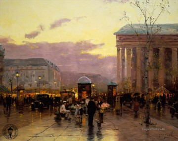 Paris Painting - Rainy Dusk Paris Thomas Kinkade
