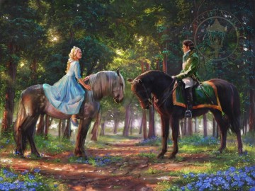 Thomas Kinkade Painting - Romance Awakens Thomas Kinkade