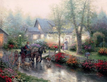 Sunday Outing Thomas Kinkade Oil Paintings