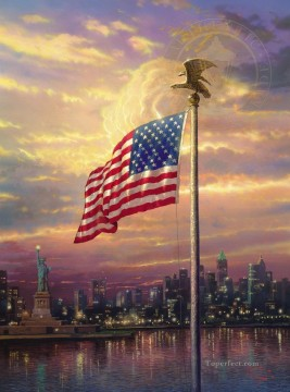 Thomas Kinkade Painting - The Light of Freedom Thomas Kinkade