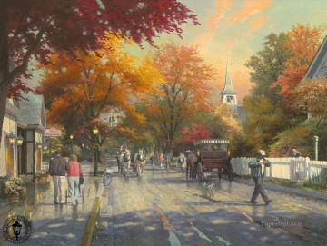 Autumn on Mackinac Island Thomas Kinkade Oil Paintings