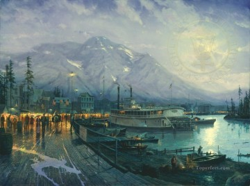 Thomas Kinkade Painting - Birth of a City Thomas Kinkade