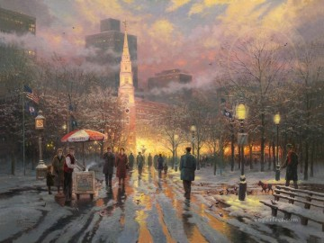 Thomas Kinkade Painting - Boston Celebration Thomas Kinkade